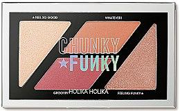 Düfte, Parfümerie und Kosmetik Rouge- und Highlighterpalette - Holika Holika Chunky Funky So Funk Multi Blusher Palette