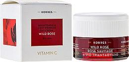 Düfte, Parfümerie und Kosmetik Tagescreme für trockene Haut mit Kurkuma-Extrakt und Hyaluronsäure - Korres Wild Rose Brightening & First Wrinkles Day Cream