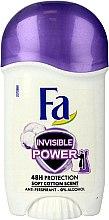 Düfte, Parfümerie und Kosmetik Deostick Antitranspirant - Fa Invisible Power Deodorant Stick