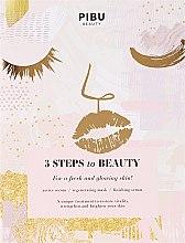Düfte, Parfümerie und Kosmetik Regenerierende Gesichtsmaske - Pibu Beauty 3 Steps To Beauty Mask