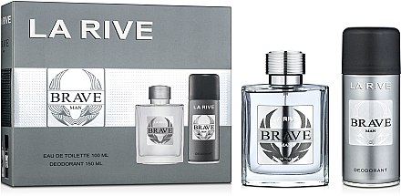 La Rive Brave Man - Duftset (Eau de Toilette/100ml + Deodorant/150ml) — Bild N3