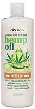Düfte, Parfümerie und Kosmetik Regenerierende und feuchtigkeitsspendende Haarspülung mit Hanfsamenöl für mehr Glanz - Anovia Hemp Oil Conditioner Restores and Hydrates
