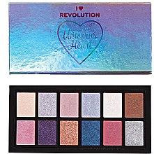 Düfte, Parfümerie und Kosmetik Lidschattenpalette - I Heart Revolution Unicorns Heart Eyeshadow Palette