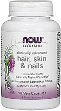 Düfte, Parfümerie und Kosmetik Vitamine für Nägel, Haar und Haut 90 Kapseln - Now Foods Solutions Hair, Skin & Nails