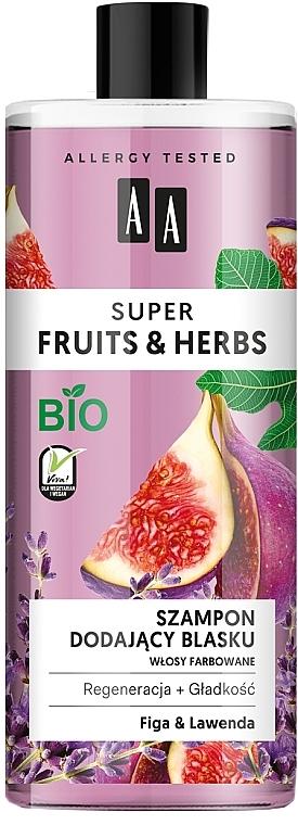 Shampoo für mehr Glanz mit Feige und Lavendel - AA Super Fruits & Herbs Shampoo Fig & Lavender — Bild N1