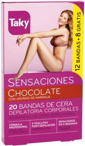 Enthaarungswachssteifen für den Körper mit Schokoladenduft - Taky Chocolate Body Wax Strips With Orange Fragrance Box — Bild N1