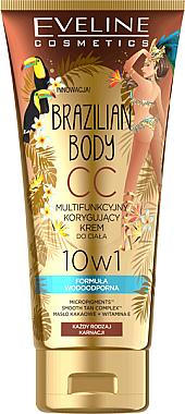 10in1 Wasserfeste CC Körpercreme mit Bräunungseffekt - Eveline Cosmetics Brazilian Body Waterproof Multi Functional CC Cream — Bild N1