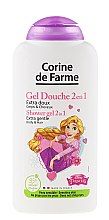 Düfte, Parfümerie und Kosmetik 2in1 Duschgel und Shampoo Rapunzel - Corine De Farme Princess Extra Gentle Shower Gel 2in1