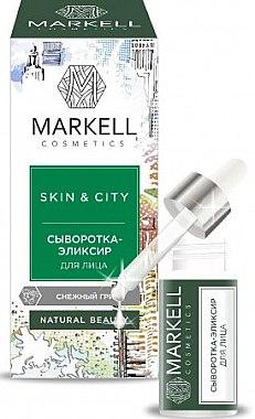Aufbauendes und schützendes Gesichtsserum mit Schneepilz - Markell Cosmetics Skin&City — Bild N1