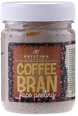 Gesichtspeeling mit Koffein - Hristina Cosmetics Coffee Bran Face Peeling — Bild N1