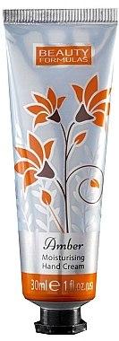 Feuchtigkeitsspendende Handcreme mit Bernsteinduft - Beauty Formulas Amber Moisturising Hand Cream — Bild N1