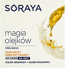 Pflegende Gesichtscreme mit Argan- und Macadamiaöl - Soraya Magic of Oils Nourishing Cream for Dry Skin — Bild N1