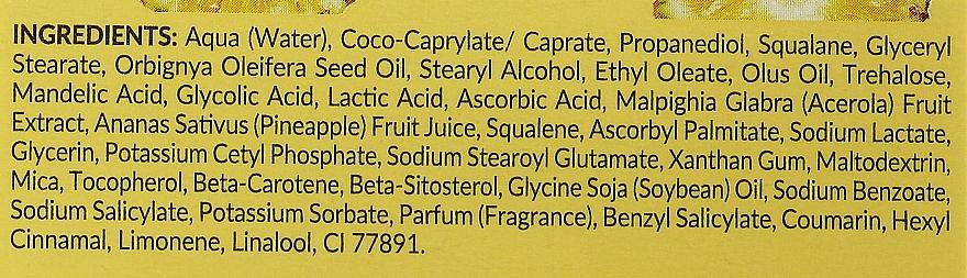Feuchtigkeitsspendende und aufhellende Gesichtscreme mit Ananassaft, AHA-Säuren und Vitamin C - Bielenda Eco Sorbet Moisturizing & Brightening Face Cream — Bild N4