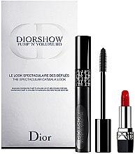 Düfte, Parfümerie und Kosmetik Make-up Set (Mascara 6ml+Lippenstift 1.5g) - Dior Diorshow Pump 'N' Volume Mascara & Lipstick Set