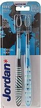 Düfte, Parfümerie und Kosmetik Zahnbürste mittel Individual Reach schwarz, blau 2 St. - Jordan Individual Reach Medium