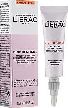 Düfte, Parfümerie und Kosmetik Energiespendende Augengel-Creme zur Korrektur von Müdigkeitserscheinungen - Lierac Dioptifatigue Fatigue Correction Re-Energizing Gel-Cream