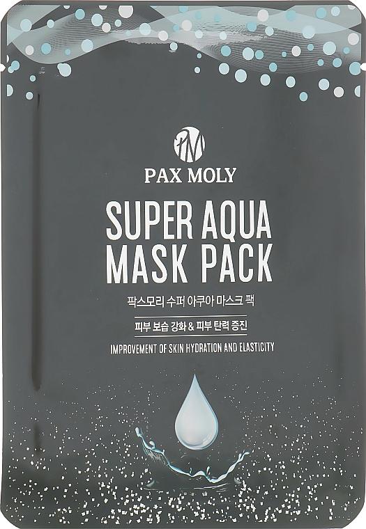 Tuchmaske für das Gesicht mit Meerwassermineralien - Pax Moly Super Aqua Mask Pack — Bild N1