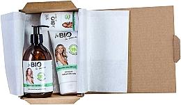 Düfte, Parfümerie und Kosmetik Körperpflegeset mit Spirulina und Chlorella - BeBio Spirulina & Chlorella Algae Set (Duschgel 400ml + Körperlotion 200ml + Deo Roll-on 50ml)