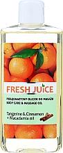Düfte, Parfümerie und Kosmetik Pflege- und Massageöl für den Körper mit Mandarine, Zimt und Macadamiaöl - Fresh Juice Energy Tangerine&Cinnamon+Macadamia Oil