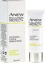 Düfte, Parfümerie und Kosmetik Schützende und reinigende Kaolin-Tonmaske für das Gesicht - Avon Anew Pollution Protect+ 15 Minute Kaolin Clay Mask