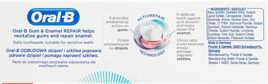 Schützende und regenerierende Zahnpasta für Zahnfleisch und -schmelz - Oral-B Professional Gum & Enamel Repair Original — Bild N3