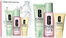 Düfte, Parfümerie und Kosmetik Gesichtspflegeset (Flüssigseife 50ml + Lotion 100ml + Feuchtigkeitsgel 30ml) - Clinique 3-Step System Type III