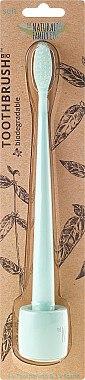Zahnbürste mit Ständer weich Minze - The Natural Family Co Bio Brush & Stand Rivermint — Bild N1