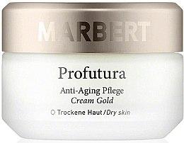 Düfte, Parfümerie und Kosmetik Anti-Aging Gesichtscreme mit Gold für trockene Haut - Marbert Profutura Anti-Aging Skin Care Cream Gold