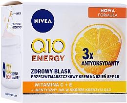 Düfte, Parfümerie und Kosmetik Anti-Falten Gesichtscreme Q10 plus C für strahlende und frische Haut mit LSF 15 - NIVEA Q10 Energy Anti-Wrinkle Day Cream SPF15