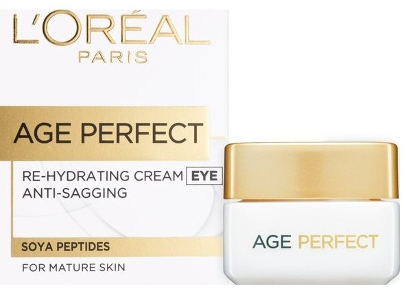 Feuchtigkeitsspendende Augencreme für reife Haut - L'Oreal Paris Age Perfect Re-Hydrating Eye Cream