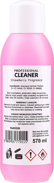 Nagelentfeuchter Strawberry - Ronney Professional Nail Cleaner Strawberry — Bild N2