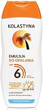 Düfte, Parfümerie und Kosmetik Wasserfeste Sonnenschutzcreme LSF 6 - Kolastyna Suncare Emulsion SPF 6