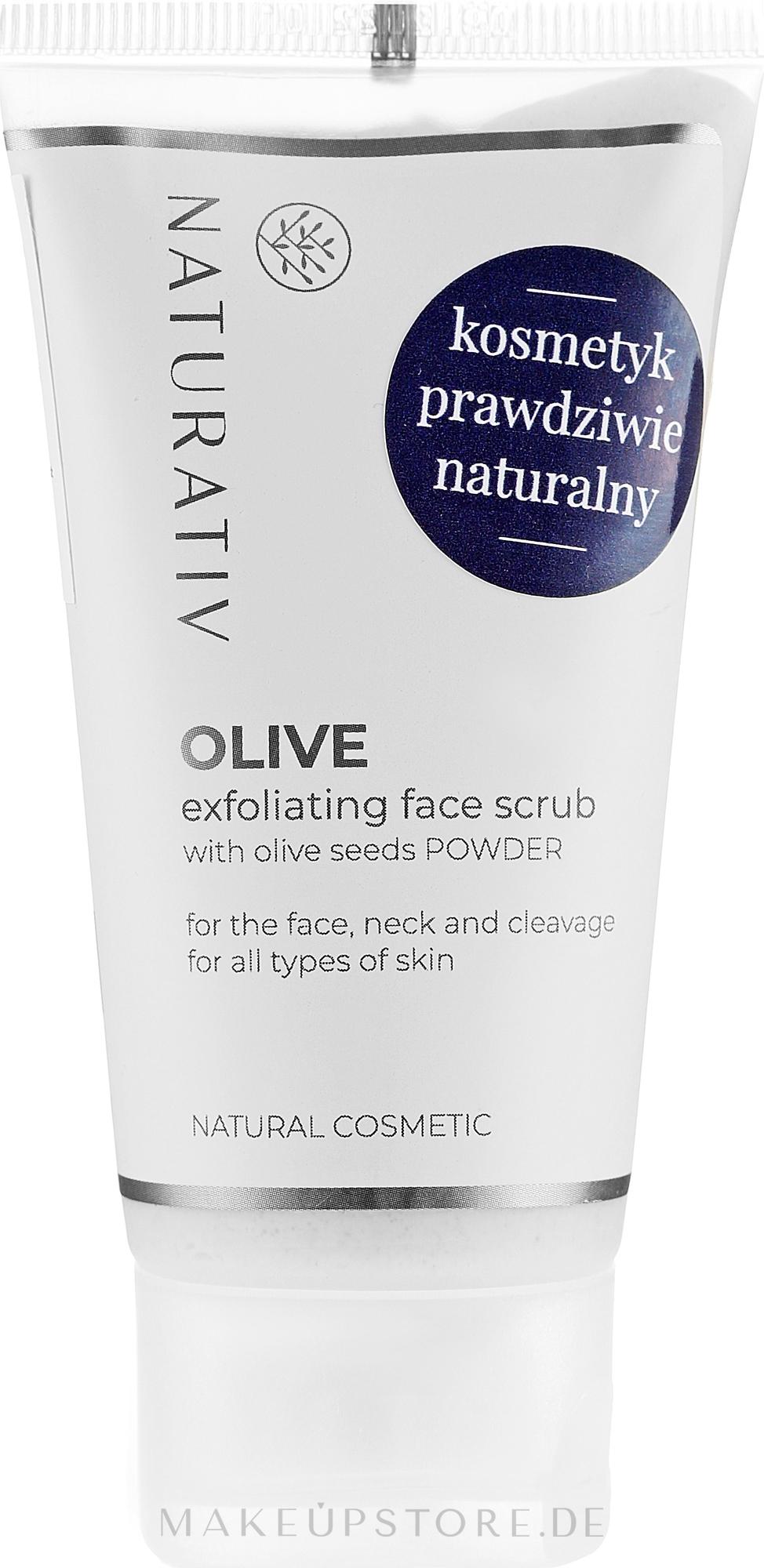 Gesichtspeeling mit Olivensamen - Naturativ Olive Exfolianting Face Scrub — Bild 50 ml