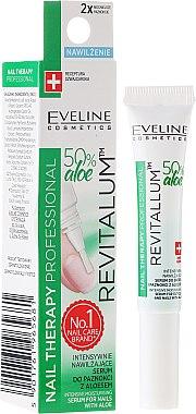 Feuchtigkeitsspendendes Serum für Nägel und Nagelhaut mit Aloe - Eveline Cosmetics Nail Therapy Professional Serum Aloe Conditioner — Bild N1