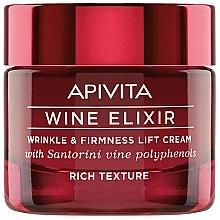 Düfte, Parfümerie und Kosmetik Straffende Liftingcreme für das Gesicht mit Santorini-Wein-Polyphenolen - Apivita Wine Elixir Wrinkle And Firmness Lift Cream Rich Texture