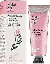 Düfte, Parfümerie und Kosmetik Gesichtspeeling mit Blumensäuren - Make Me Bio Garden Roses Face Peeling With Floral Acids