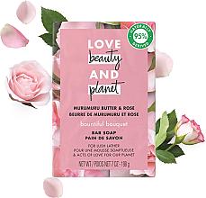 Düfte, Parfümerie und Kosmetik Blockseife mit Murumuru-Nuss und Rosenöl - Love Beauty&Planet Murumuru Nut And Rose Oil