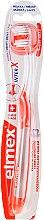 Düfte, Parfümerie und Kosmetik Zahnbürste weich transparent-orange - Elmex Toothbrush Caries Protection InterX Soft Short Head