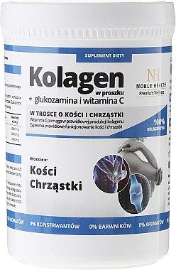 Pulverkollagen + Glucosamin und Vitamin C zum Schutz von Knochen und Knorpel - Noble Health Kolagen + Glucosamine + Vitamin C — Bild N1