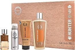 Düfte, Parfümerie und Kosmetik Armaf Hunter For Men - Duftset (Eau de Parfum 100ml + Deospray 50ml + Duschgel 100ml + Shampoo 250ml)