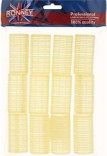 Düfte, Parfümerie und Kosmetik Klettwickler 32/63 gelb - Ronney Professional Velcro Roller