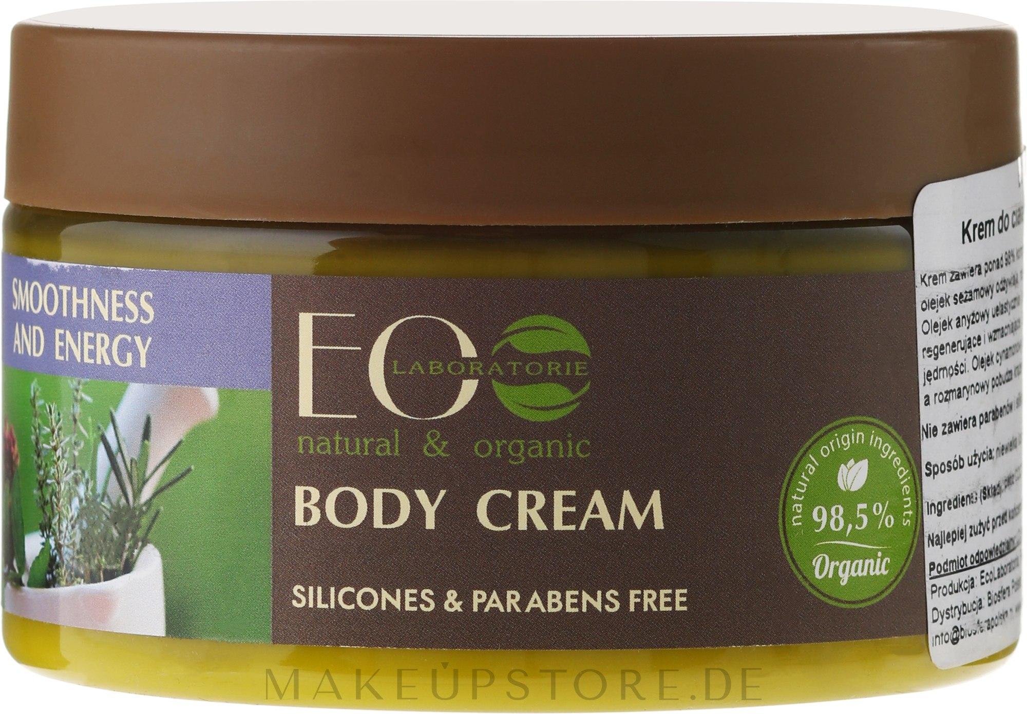"""Körpercreme """"Geschmiedigkeit und Energie"""" - ECO Laboratorie Smoothness and Tonus Body Cream — Bild 250 ml"""