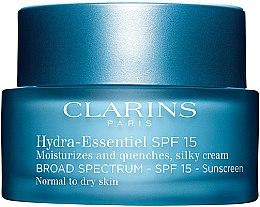 Düfte, Parfümerie und Kosmetik Feuchtigkeitscreme für normale und Mischhaut - Clarins Hydra-Essentiel Silky Cream SPF 15 Normal to Dry Skin