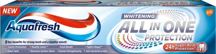 Aufhellende und schützende Zahnpasta All In One Protection Whitening - Aquafresh All-in-One Whitening — Bild N1