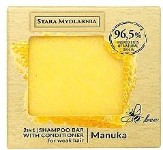 Düfte, Parfümerie und Kosmetik 2in1 Festes Shampoo und Haarspülung mit Manuka-Honig für schwaches Haar - Stara Mydlarnia Manuka Honey 2in1 Shampoo Bar