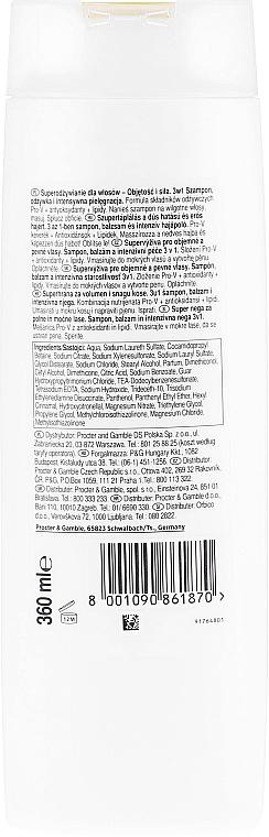 Pflegeshampoo für schwaches und dünnes Haar mit Pro-V Komplex, Antioxidantien und Lipiden - Pantene Pro-V Superfood Shampoo — Bild N2
