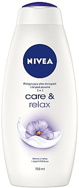 Pflegebad mit Malvenextrakt und Hibiskus-Duft - Nivea Care & Relax Body Wash — Bild N1