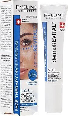 Augenkonturserum gegen Augenringe und Schwellungen - Eveline Cosmetics Face Therapy Professional SOS DermoRevital — Bild N2