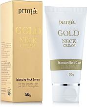 Düfte, Parfümerie und Kosmetik Straffnede Halscreme mit 24 Karat Gold - Petitfee & Koelf Gold Neck Cream