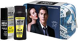 Düfte, Parfümerie und Kosmetik Körperpflegeset - Dermacol Men Agent (Duschgel 200ml + Bartöl 50ml + Kulturbeutel)
